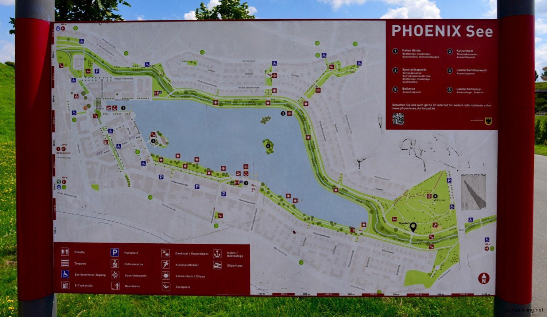 Übersichtstafel - Phoenixsee Dortmund