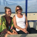 Spaziergang am Strand bei Vrouwenpolder in Süd-Holland