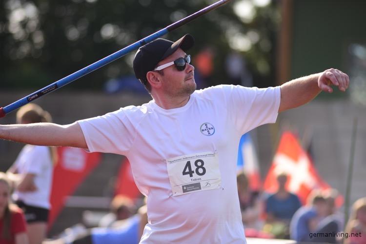 Tobias Stargardt beim Speerwurf