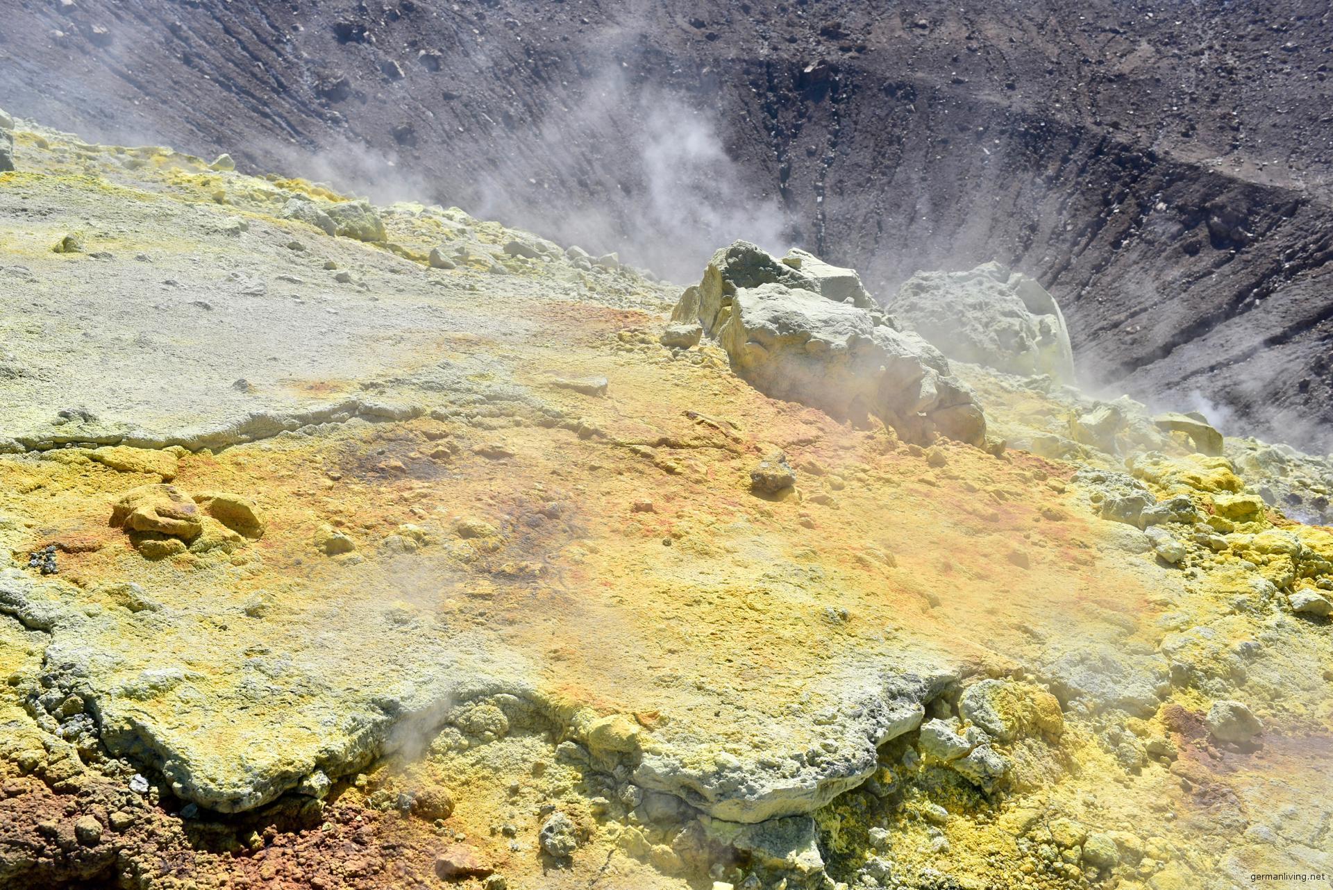 Fumarolen am Fossa di Vulcano - Liparische Inseln